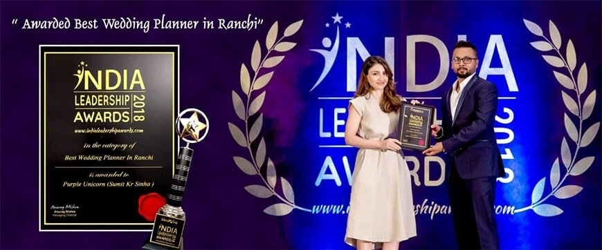 Best wedding planner In Ranchi 2018 award by Soha Ali Khan