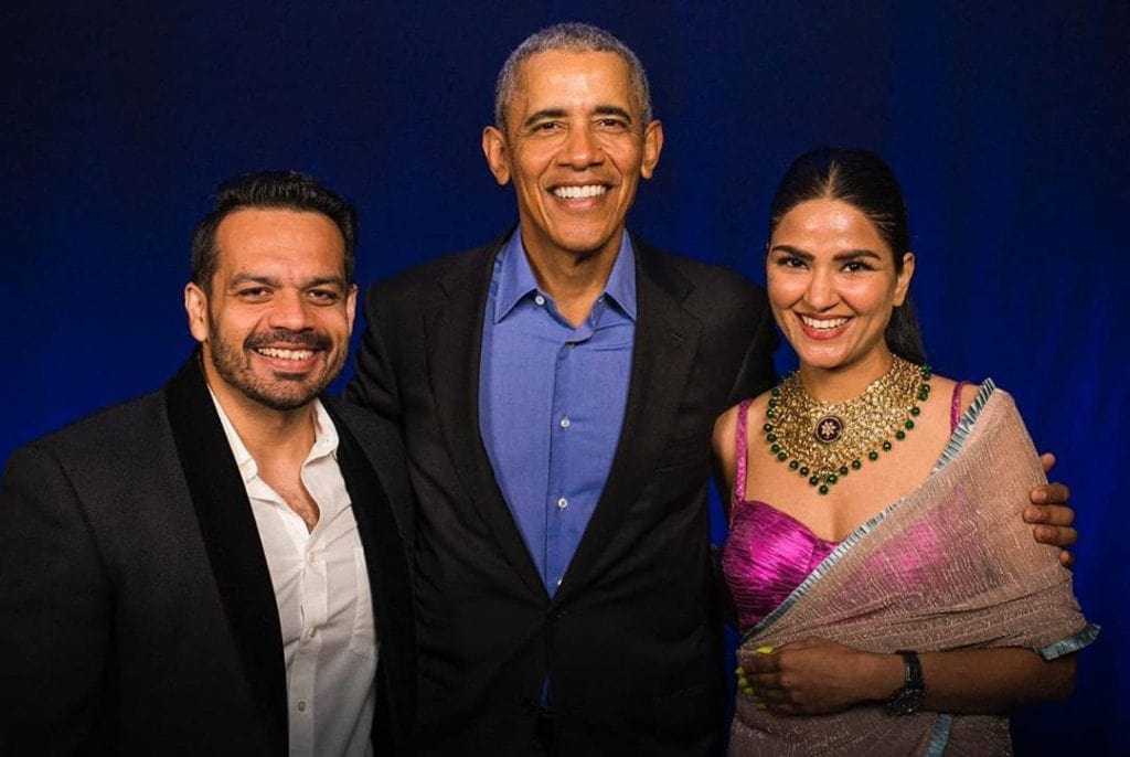 Ritu Rathee Taneja With Mr. Barack Obama & Her Husband Gaurav Taneja