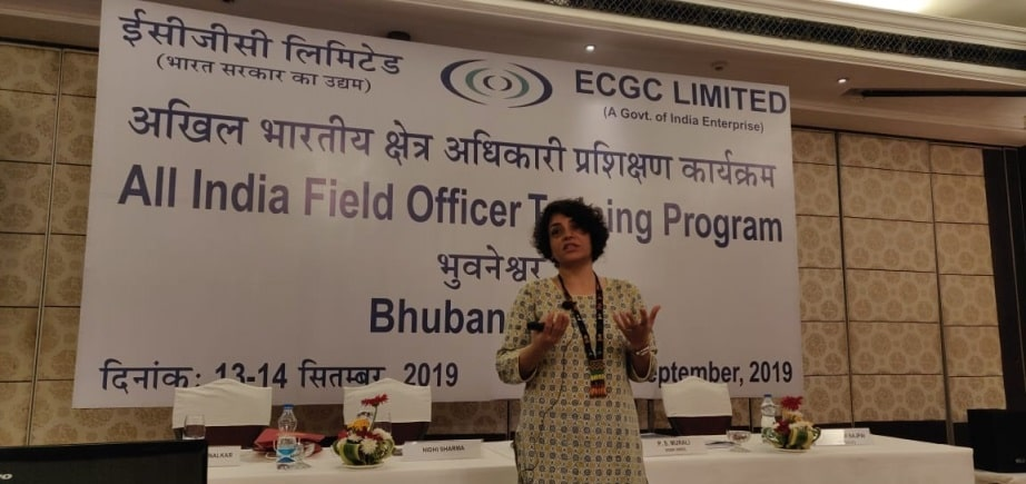 Nidhi Sharma Taking Session On Anxiety At All India Filed Officer Traing Program
