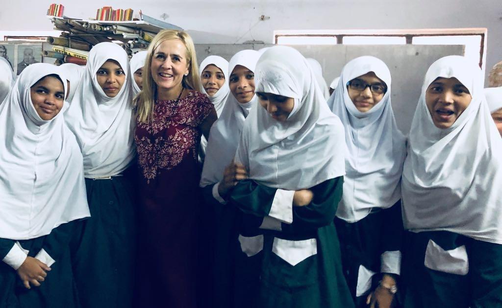Elca Grobler With School Girls
