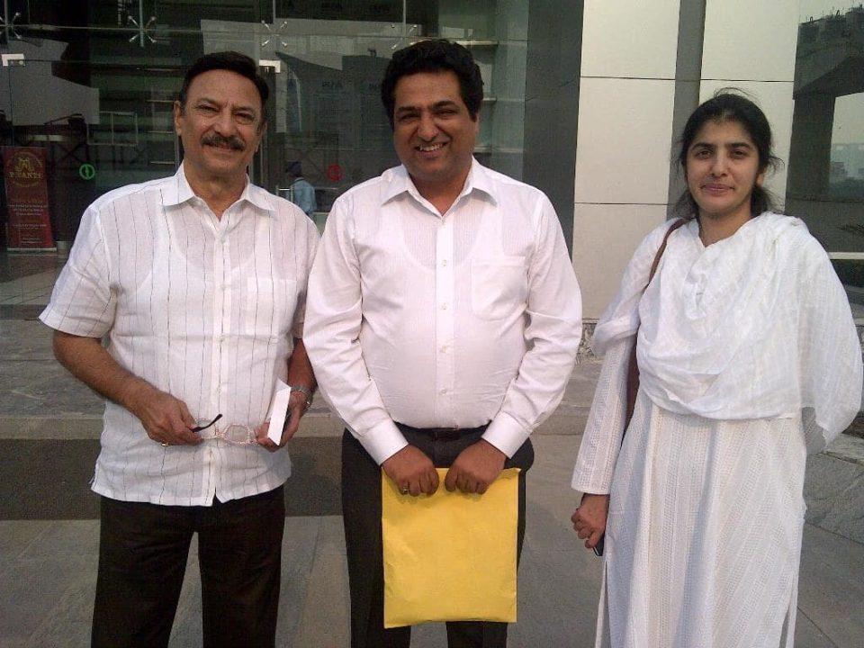 Tushar Kansal With Sister Shivani and Suresh ji Oberoi